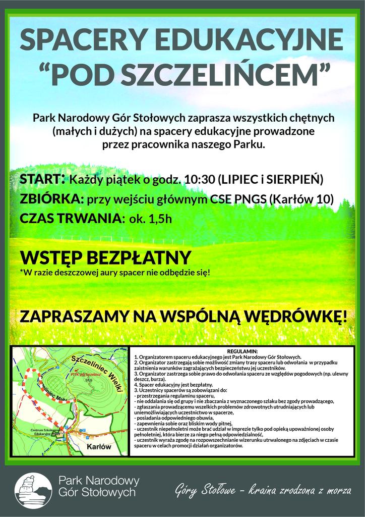 Plakat spacerów edukacyjnych