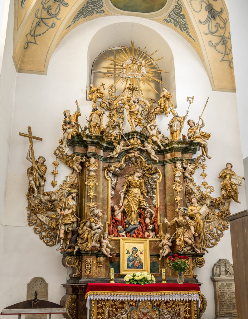 Ołtarz 14. św. Wspomożycieli w kościele pw. śww. Piotra i Pawła w Dusznikach-Zdroju, fot. Szymon Korzuch.jpeg