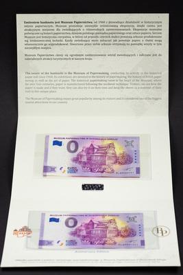 Banknot z opisem muzeum